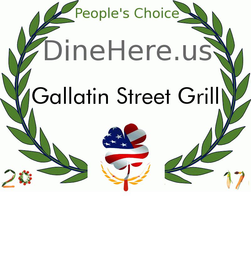 Gallatin Street Grill DineHere.us 2017 Award Winner